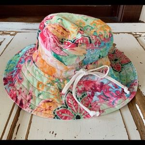 Panama Jacket Flower Bucket Hat